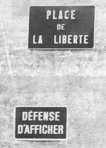 pancarte liberté place de la liberté expression